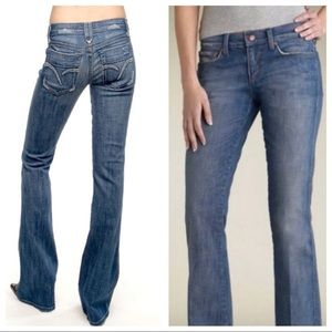 Joe's Bootcut Distressed Jeans 28 Light Wash